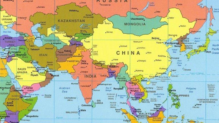 Nhìn vào nền kinh tế địa lý châu Á, bạn thấy gì?
