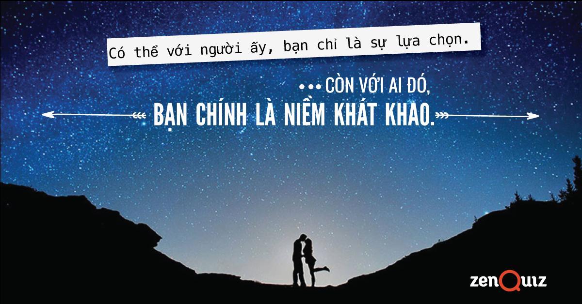 Slogan nào phơi bày tâm trạng bạn khi yêu?